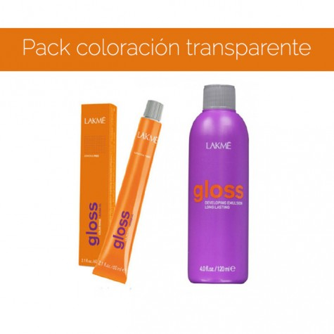 Pack coloración transparente 0/00 de Gloss