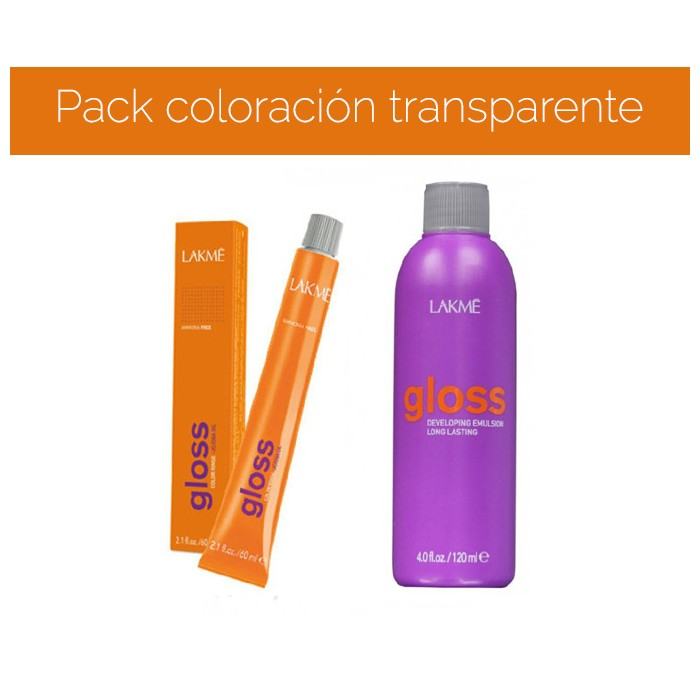 Pack coloración transparente 0/00 de Gloss - Por los pelos