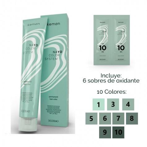Pack Nayo Coloración SIN AMONIACO + 6 Oxidantes +REGALO 100 ml
